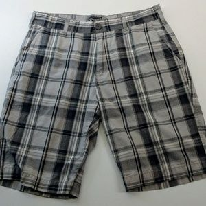 Retrofit Plaid Shorts Dark Grey and Lgt Grey Sz 32